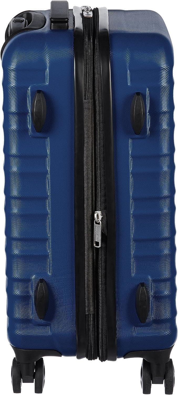 Basics Valise de voyage /à roulettes pivotantes Orange br/ûl/é 55 cm, 68 cm, 78 cm Lot de 3/valises