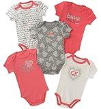 Calvin Klein Baby Girls 5 Pieces Pack Bodysuits