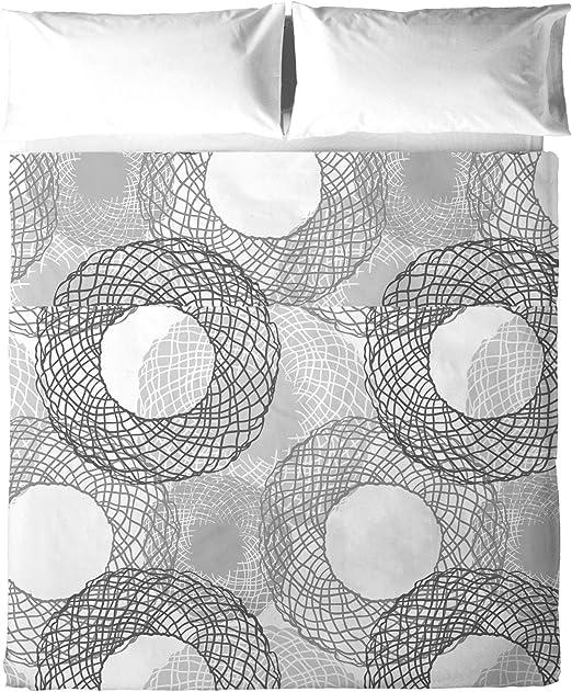 Atelie Luxury Linens Juego Sábanas, Algodón, Gris, 150 x 200 cm ...