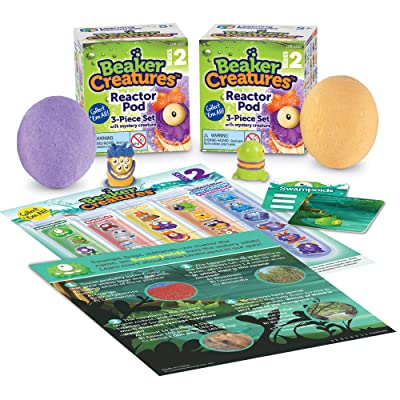 Learning Resources Beaker Creatures Reactor Pods Series 2, Homeschool, STEM, 2 Pack, Assorted Colors, Ages 5+: Toys & Games