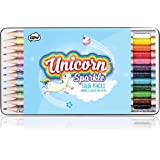 NPW-USA Unicorn Color Pencils, Two-Tone, 12Count