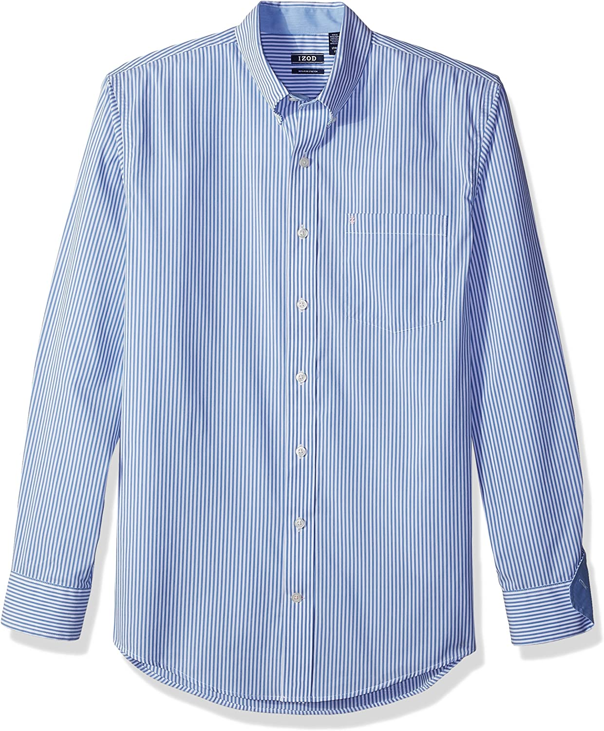 Cromoncent Mens Long Sleeve Striped Turn Down Tops Button Front Shirts