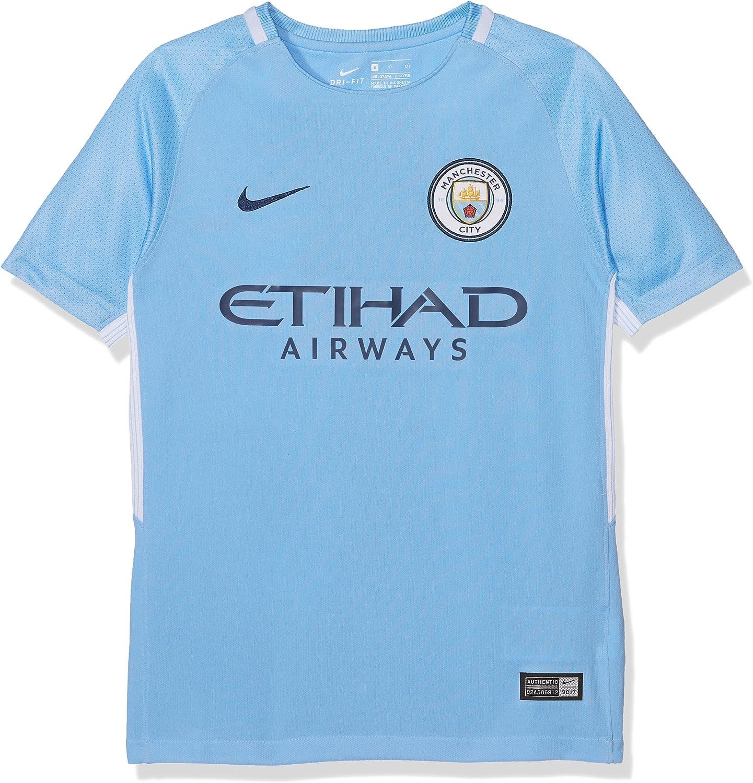 Nike Youth Breathe Manchester City FC Stadium Jersey [Field Blue]