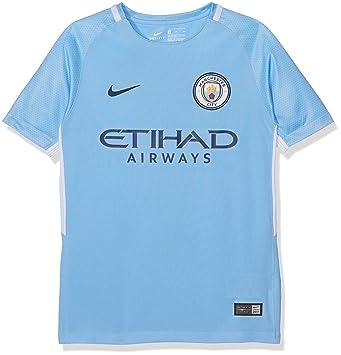 Nike MCFC Y NK BRT STAD JSY SS HM Camiseta 1ª equipación Manchester City FC  17 9666685ef0ad2