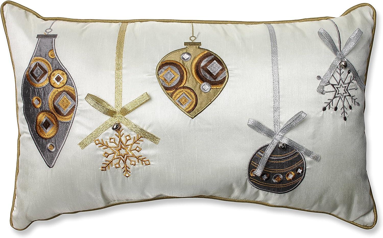 Ornaments Rectangular Christmas Throw Pillow