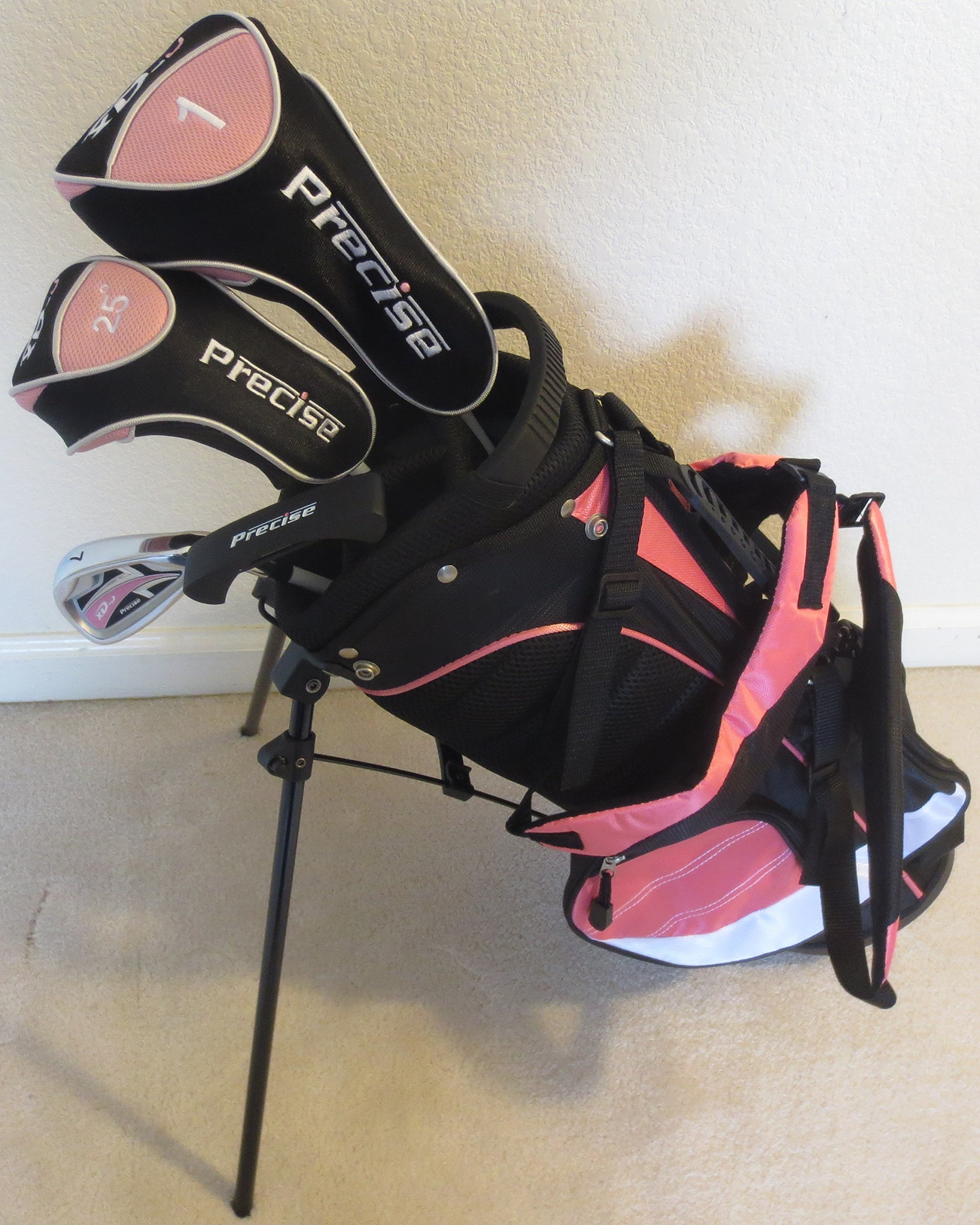 Girls Junior Golf Club Set with Stand Bag for Kids Ages 3-6 Pink Color Right Handed Premium Professional Quality