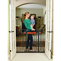 Regalo Home Accents Extra Tall and Wide Baby Gate, Bonus Kit, Includes Décor Hardwood, 4…