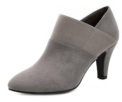 London Fog Womens Bobbie Heel Ankle Booties