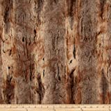 Shannon Minky Luxe Cuddle Red Fox Amber/Taupe Fabric By The Yard