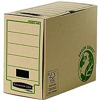 Fellowes 4470301 Boîte d'archives Dos de 15cm format A4 Banker Box Earth Series - Montage manuel Marron (lot de 20)