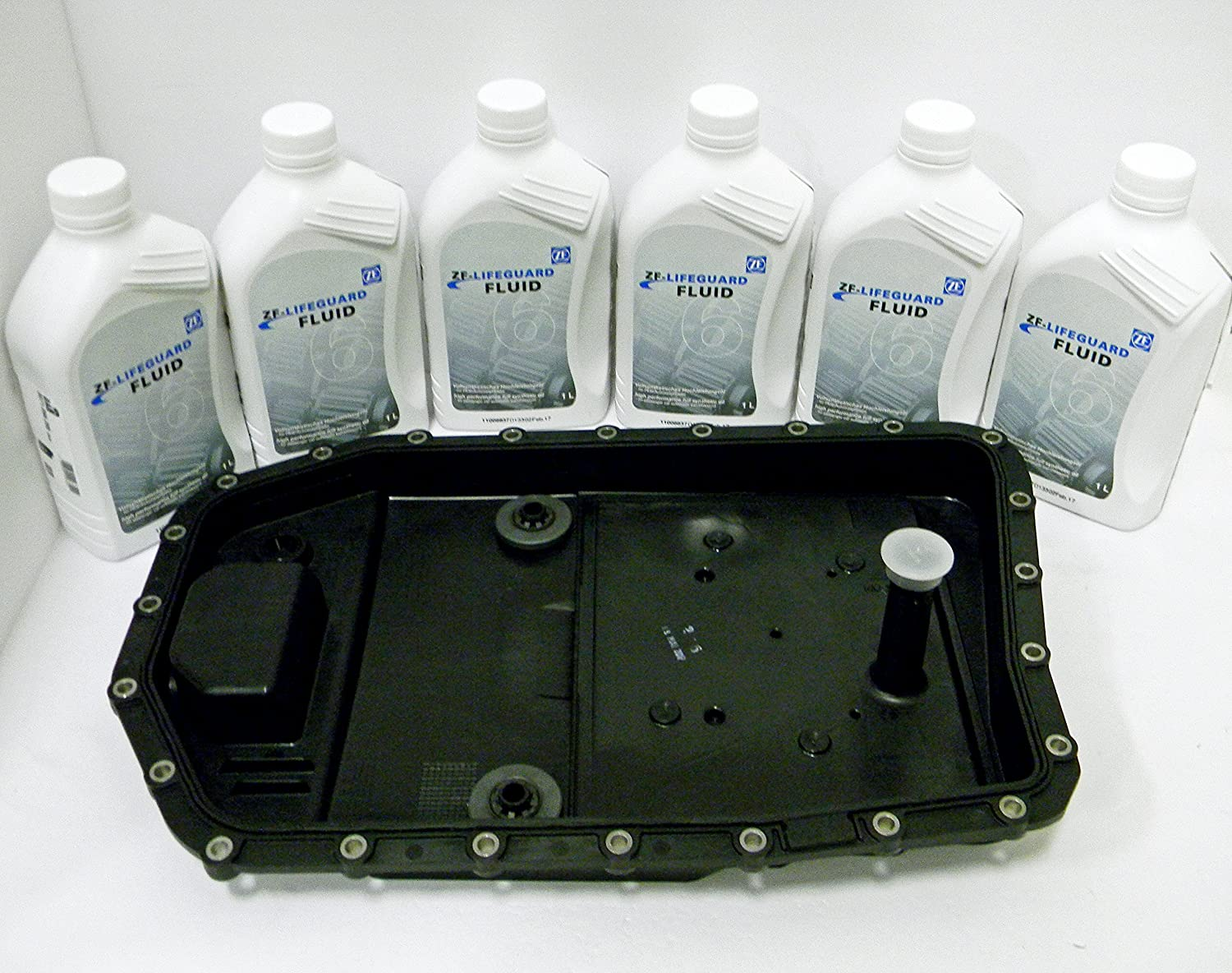 ZF Automatic Transmission Oil Pan Filter Kit 0501220297 and 6 Liters of ZF Transmission Fluid Lifeguard 6