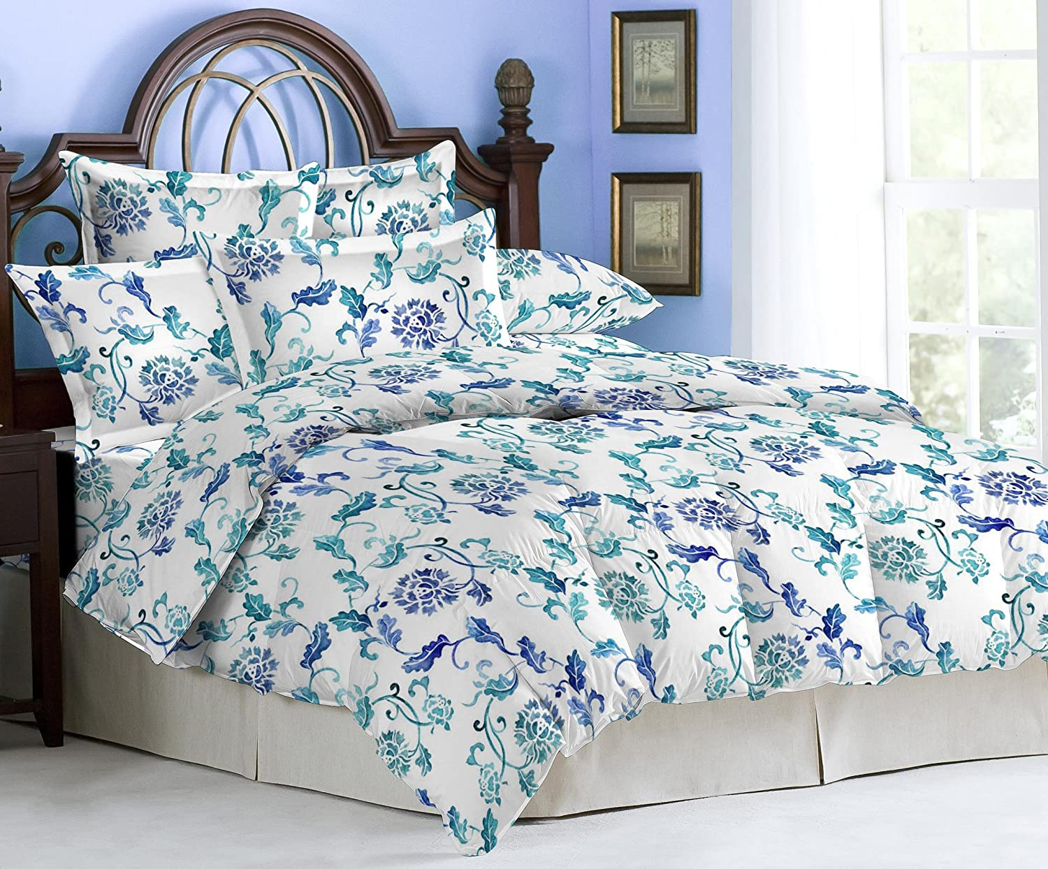 Merveilleux Buy Bombay Dyeing Eternia Double Bedsheet With 2 Pillow Covers   Blue  Online At Low Prices In India   Amazon.in