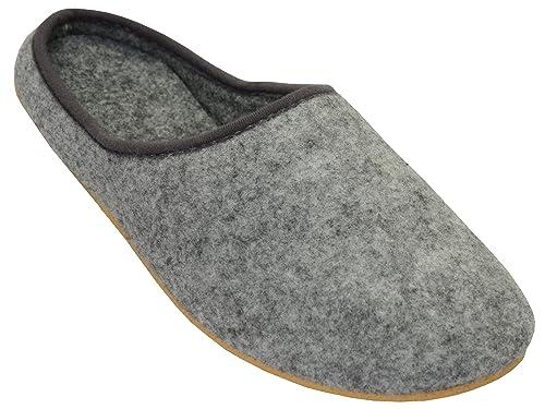 Bawal Feltro Pantofole Pantofole in Feltro con Suola in Gomma filzlatschen  Unisex Uomo e Donna Grigio FD01  Amazon.it  Scarpe e borse eea7d241530
