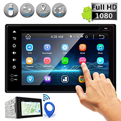Double DIN Android Stereo Receiver - Car Head Unit System w/ Rear View Backup Camera Support, 6 Inch Touchscreen LCD, 3G WiFi, Bluetooth, CD DVD Player, GPS Navigation, USB, Radio - Pyle PLDNAND621: Car Electronics