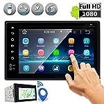 Receptor estéreo doble DIN para Android - Sistema de unidad principal para coche con soporte para cámara de visión...