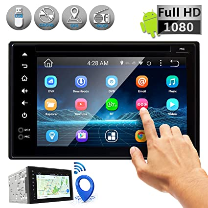 Double DIN Android Stereo Receiver - Car Head Unit System w/ Rear View  Backup Camera Support, 6 Inch Touchscreen LCD, 3G WiFi, Bluetooth, CD DVD