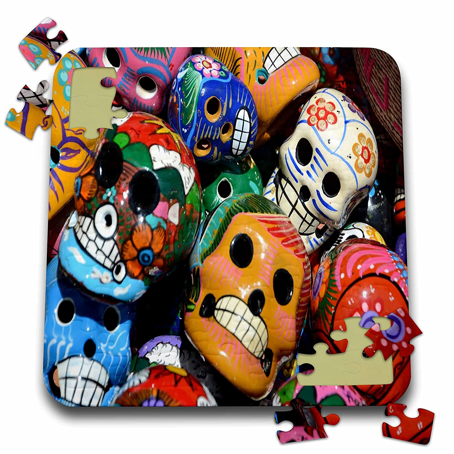 All Things Mexican - Image of Collection Of Day Of The Dead Skulls - 10x10 Inch Puzzle (pzl_255510_2)