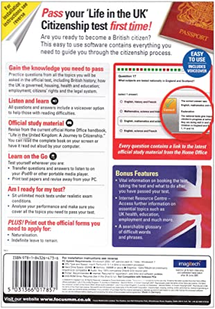 Life in the UK Citizenship Test (PC CD): Amazon.co.uk: British Citizenship Application Form Print on immigration application form, visitors application form, bail application form, uk visa application form, student visa application form, asylum application form,