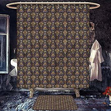 Longbuyer asiatique antidérapant Rideau de douche avec tapis de bain ...