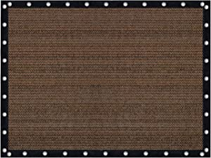 Vicllax Shade Fabric Sun Shade Cloth Privacy Screen with Grommets for Patio Garden Pergola Cover Canopy 10x16 FT, Mocha