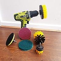 ZINGOORIA | 6 Pcs Drill Brush Set for Cleaning | Grout Cleaning Brush | Carpet Brush | Tyre Brush | Car Cleaning Kit…