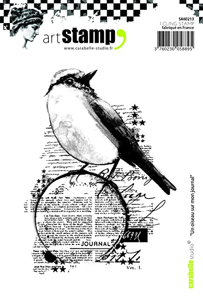 Amazon com: Carabelle Studio Cling Stamp A6-A Bird On My Diary: Arts