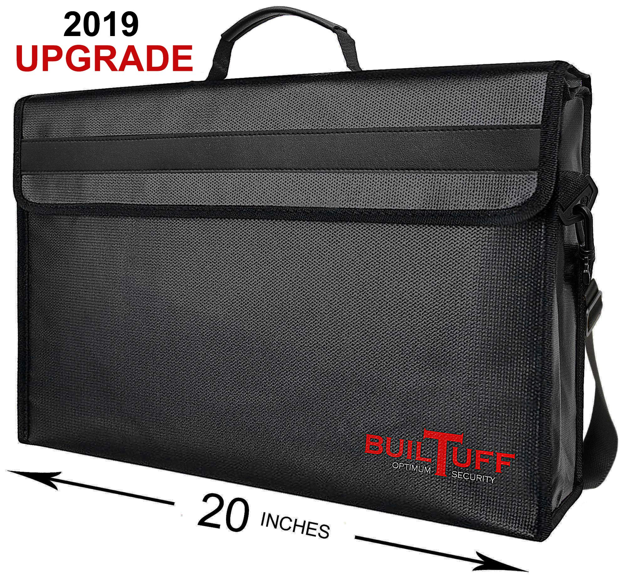 XXXL Fireproof Document Bags 20x13x5 Holds Legal Size Large Files and Documents Without Bending. Fireproof Safe, Water Resistant Document Bag for Passport, Jewelry, Money,Valuables.BuilTuff 20x13x5 by Builtuff