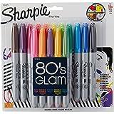 Sharpie 1815089 Marcador Permanente Punto Fino, 16 Colores Surtidos, Edición Limitada Retro