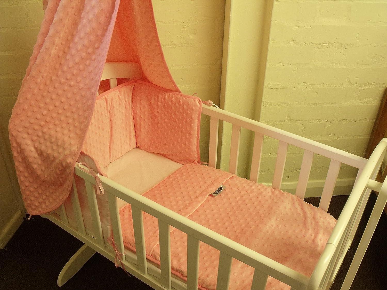 white hollie swinging crib pink 3 piece crib set-drape rod -mattress my babys room