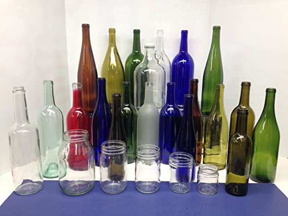 Amazon.com: 24 - Cobalt Blue Hock Flat Bottom Glass Bottles 375ml for Bottle Trees, Crafting, Parties, Wedding Center Piece, Decor, Home Brew, Beer, ...