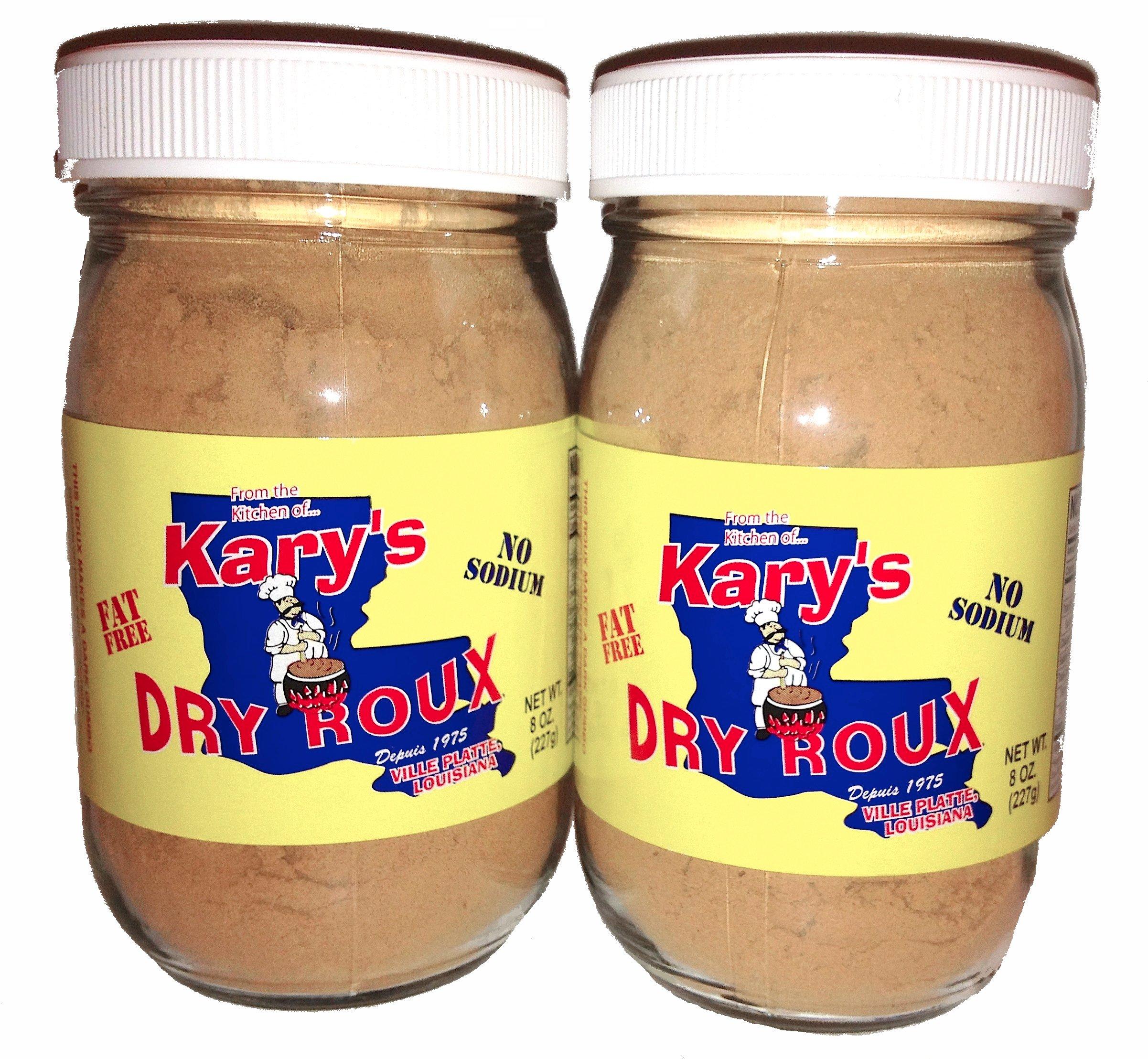 Kary's Fat Free, No Sodium Dry Roux 8oz Jar (2pk)
