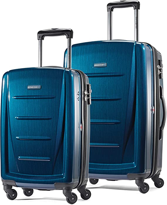 Amazon.com | Samsonite Winfield 2 Hardside Expandable Luggage with Spinner Wheels, Deep Blue, 2-Piece Set (20/24) | Suitcases