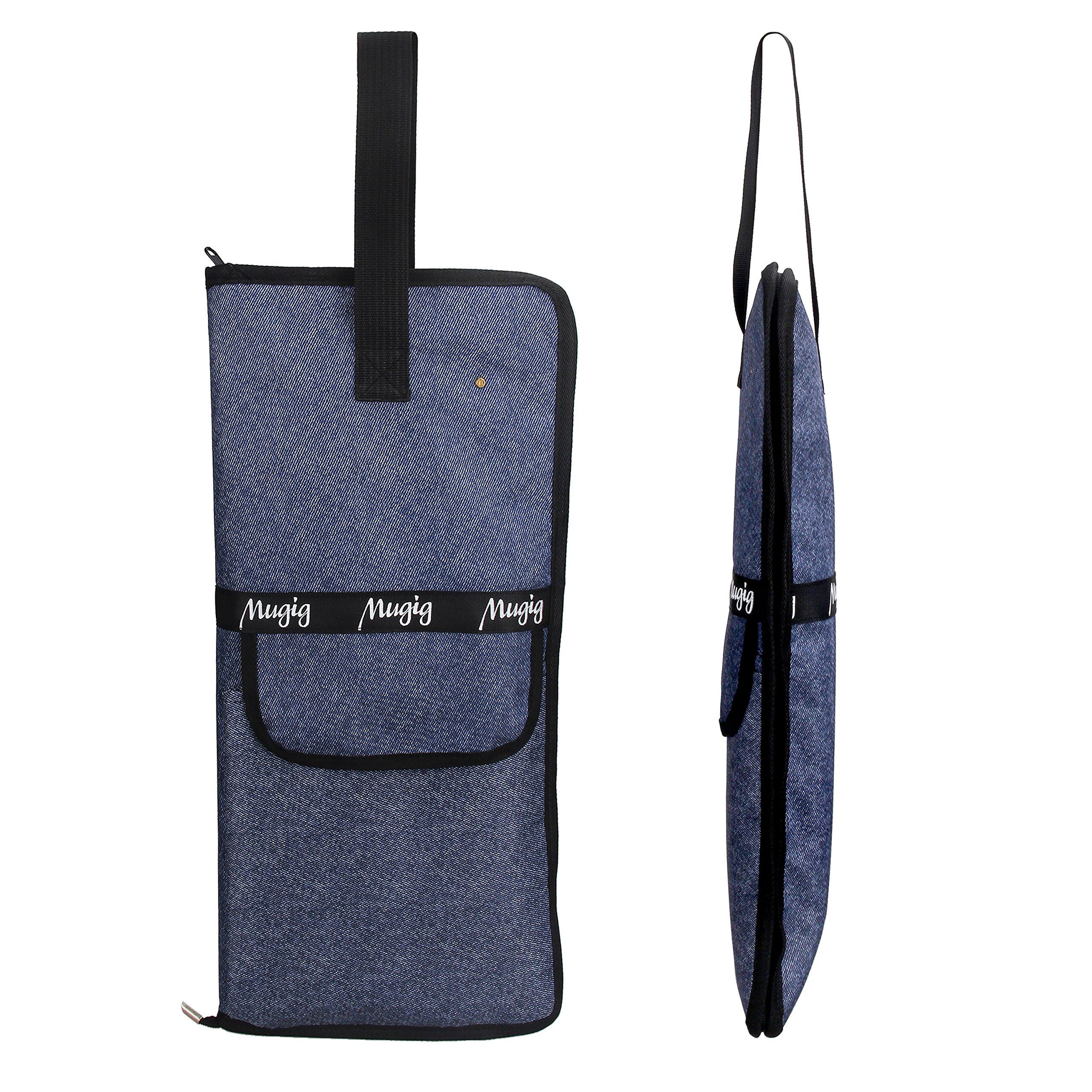 Mugig Trommelstocktasche Drumsticktasche Stick Bag aus wasserdicht Baumwolle (blau)