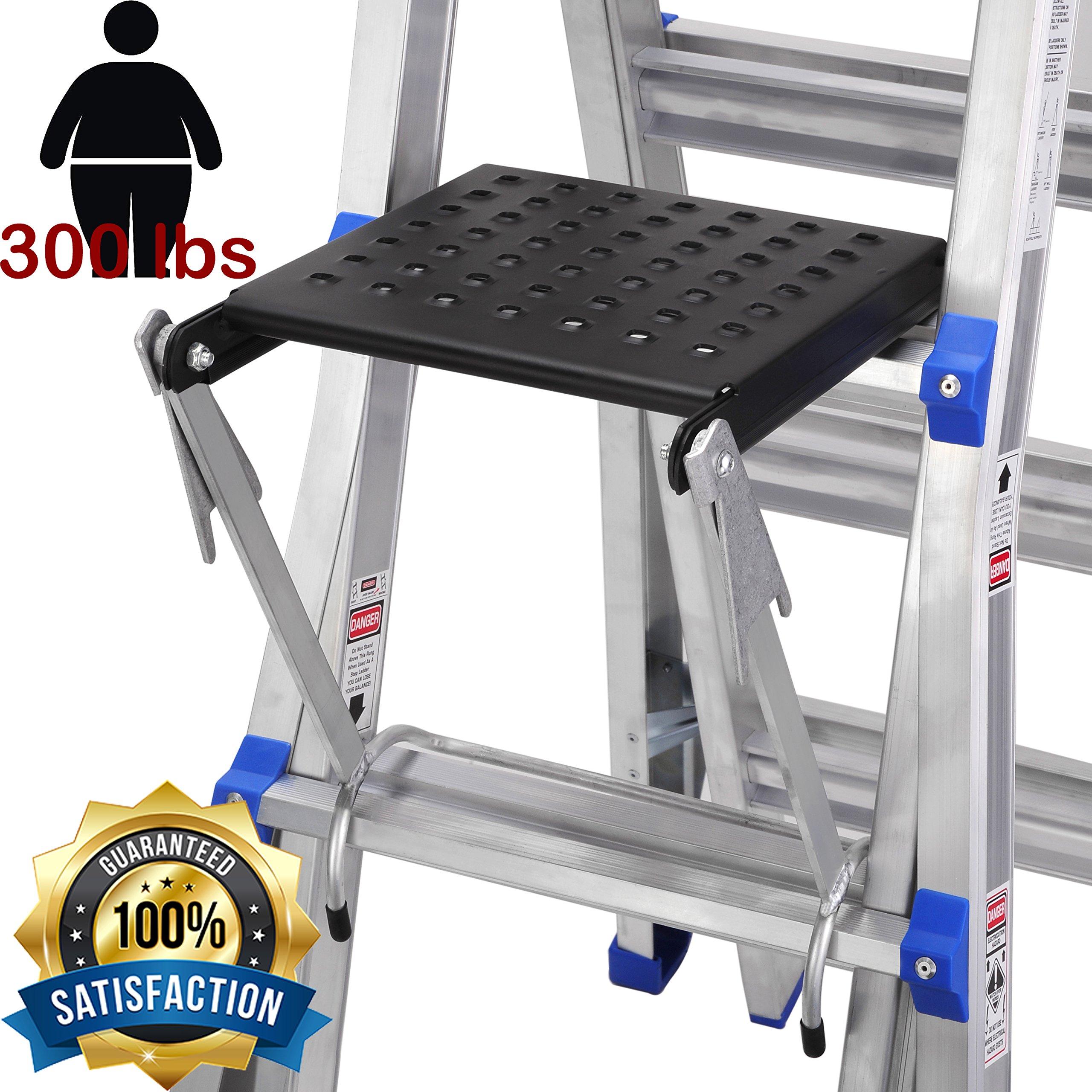 TOPRUNG 16''x15'' Work Platform for Ladders, Heavy Duty Ladder Accessory