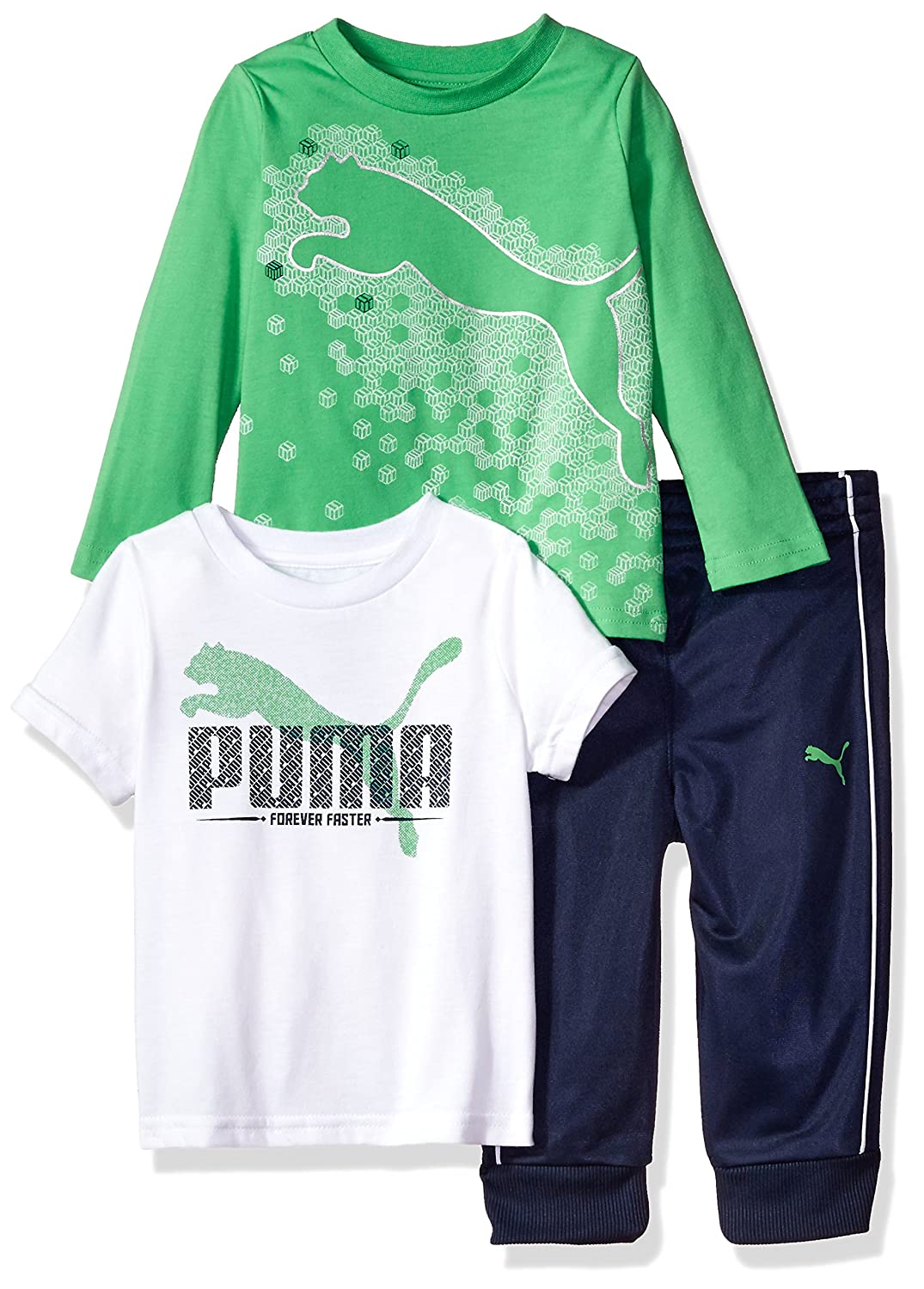 PUMA Boys Toddler Boys Boys' Three Piece T-Shirt and Pant Set Royal Blue 2T 41175326FAZ-P480