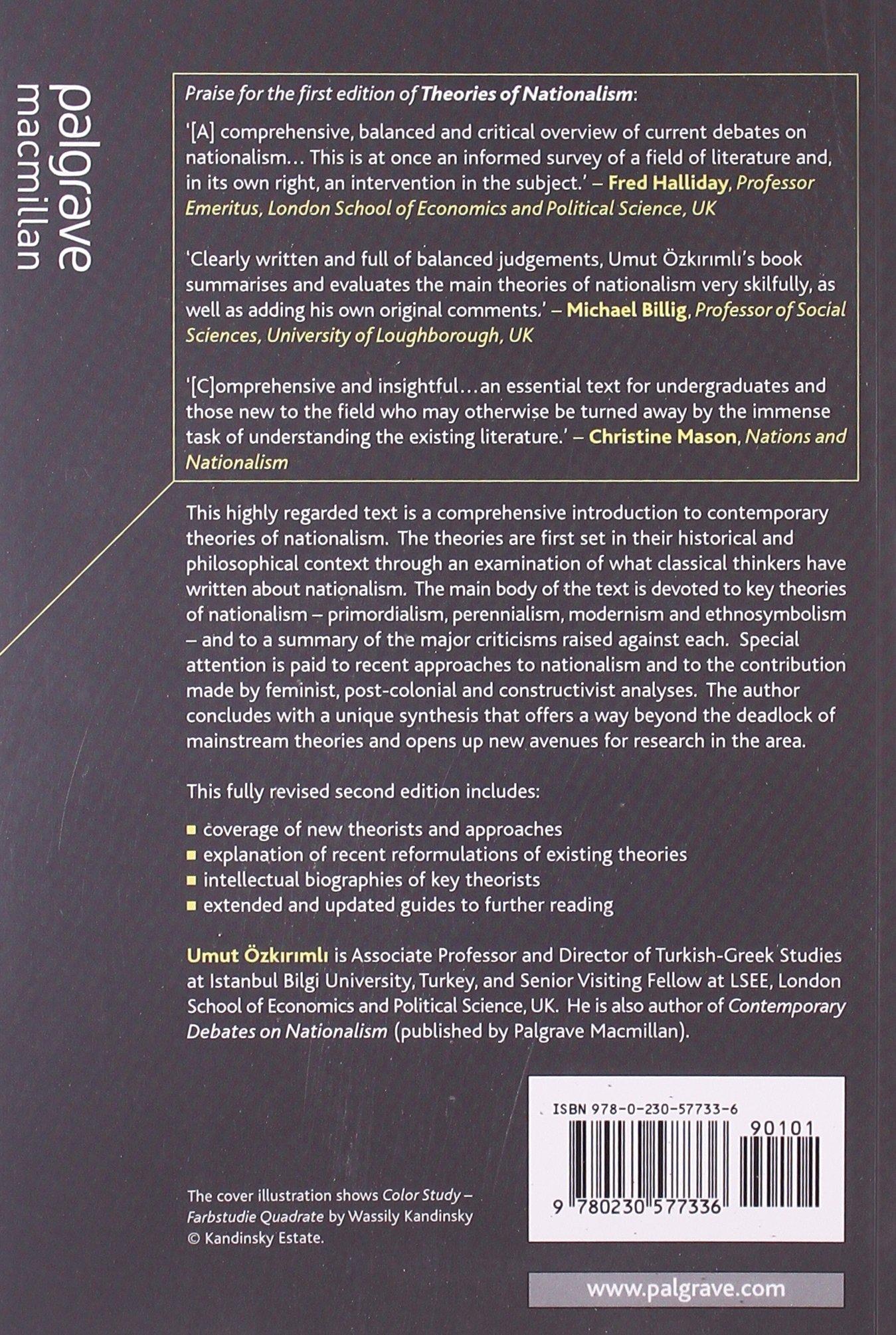 Theories of Nationalism: A Critical Introduction: Amazon.co.uk: Umut Ozkirimli: 9780230577336: Books
