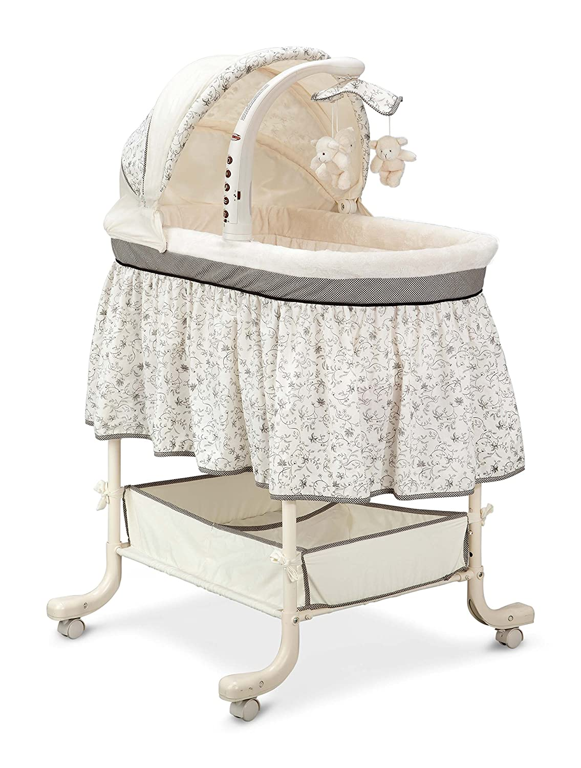 amazon com simmons kids deluxe gliding bassinet slumber time baby