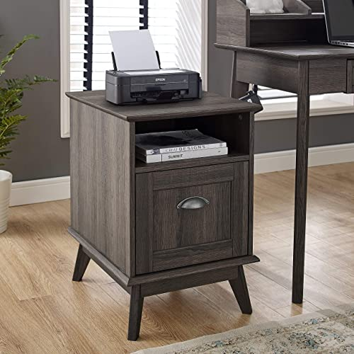 Newport Series Tall Wooden Home Office File Cabinet