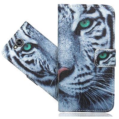 LG X Power 2 Coque, FoneExpert® Etui Housse Coque en Cuir Portefeuille Wallet Case Cover Pour LG X Power 2