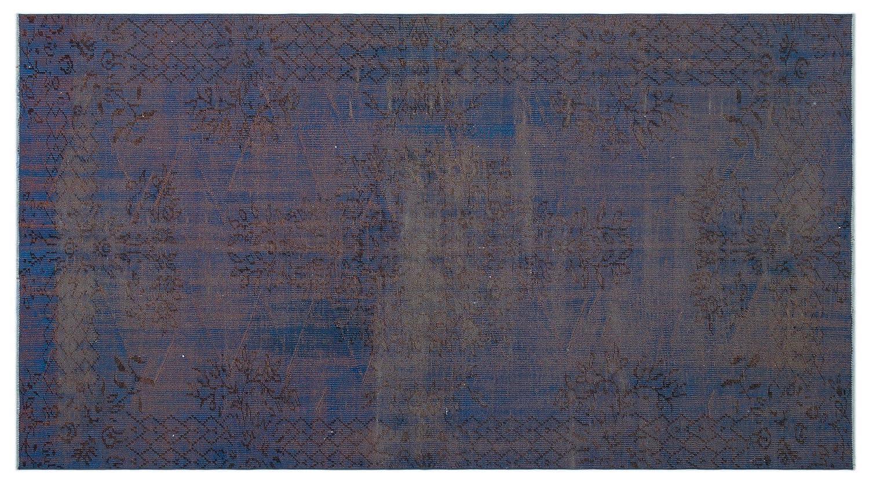 Bespoky ビンテージ 手織 ラグ 青 ミディアムサイズ 167 X 306 Cm B07HNFR186