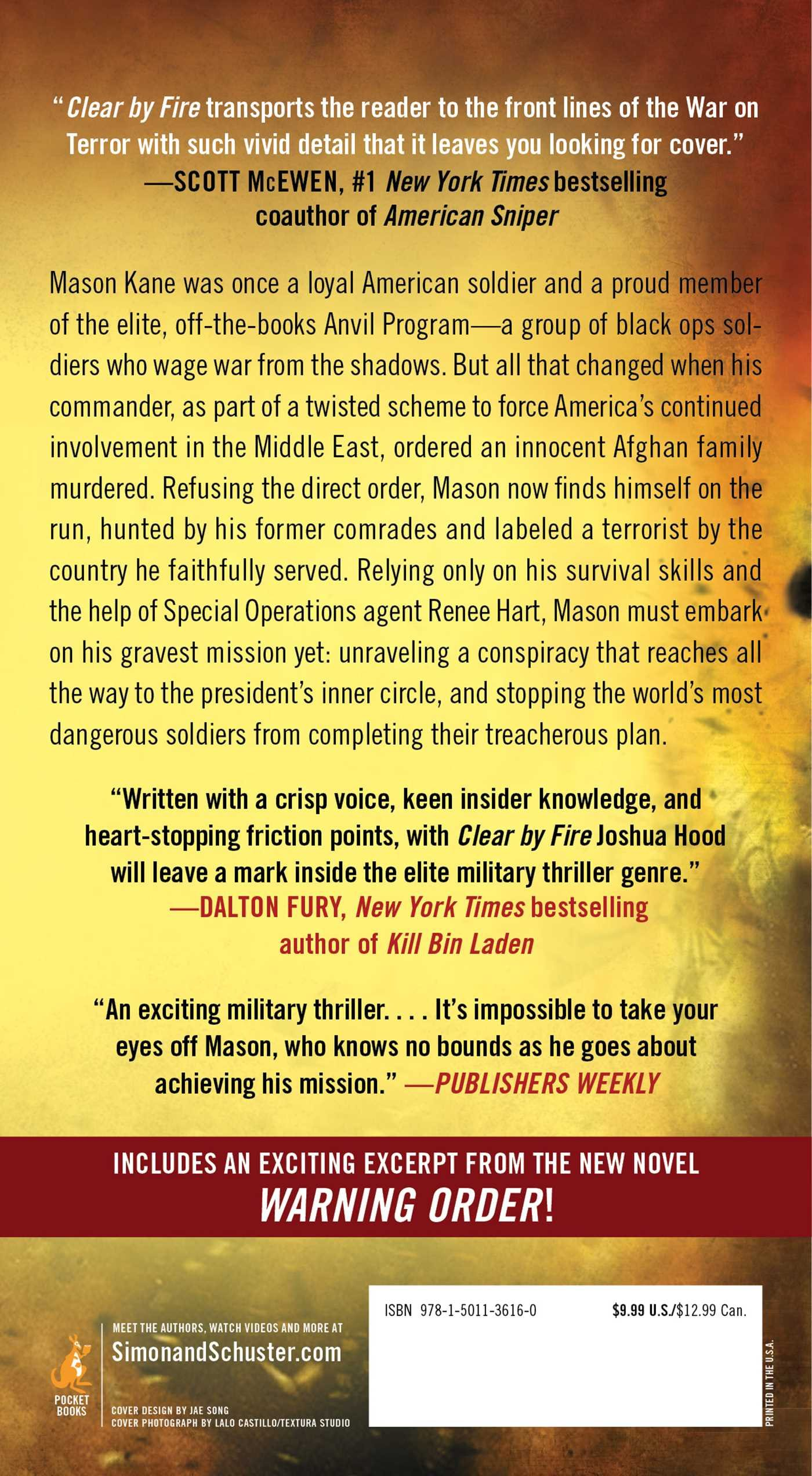 Amazon: Clear By Fire: A Search And Destroy Thriller (9781501136160):  Joshua Hood: Books