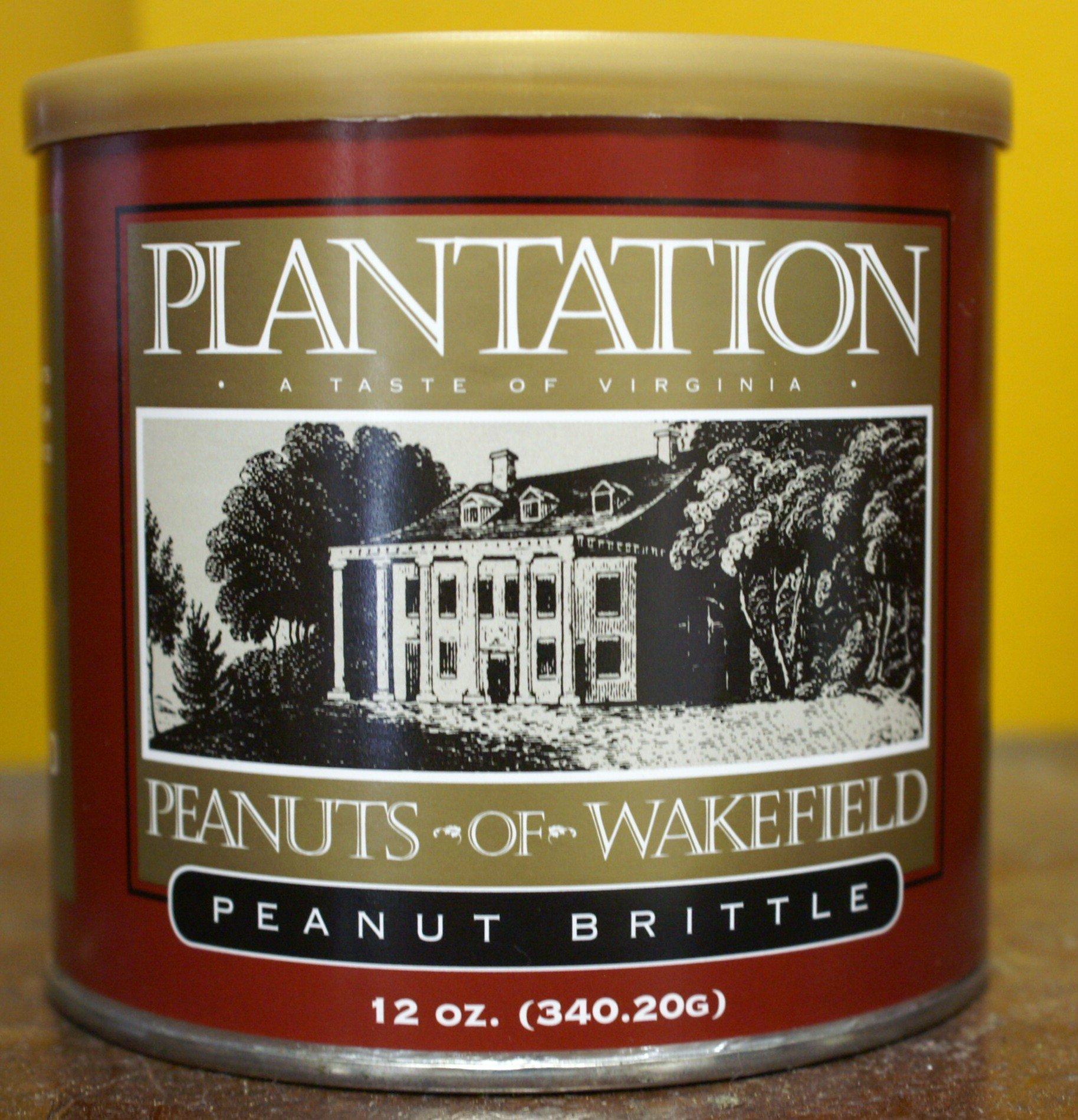 Plantation Peanut Brittle-2 PACK-All Natural Select Virginia Peanuts Traditional Virginia Recipe