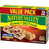 Nature Valley Sweet & Salty Nut Granola Bars, Variety Pack of Peanut and Almond, 14.8 Ounc (Pack of 8) - One Pack contains 12 Bars of 1.2 Ounce each