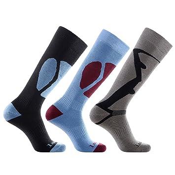 Laulax - Juego de Calcetines para Hombre (térmicos, Tallas 41-46, 3 Unidades): Amazon.es: Deportes y aire libre