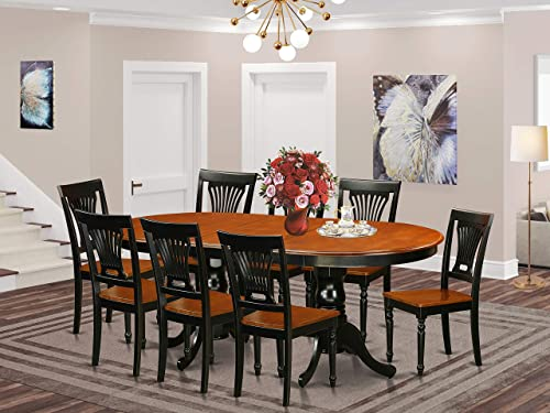 PLAI9-BLK-W 9 PC Dining room set