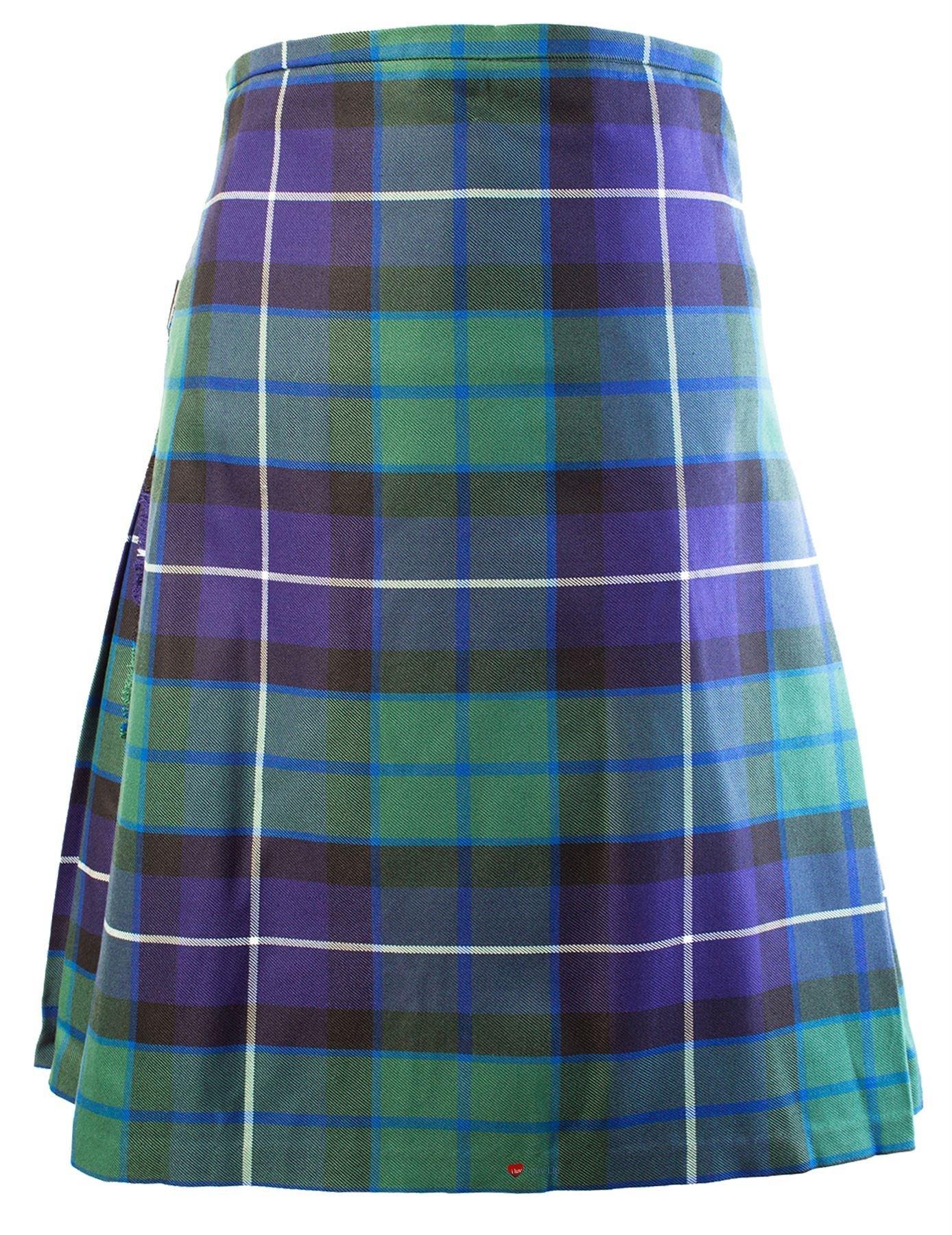 Gents Scottish Kilt Full 8 Yard 24in Drop Waist 46-48 Colour Freedom Tartan