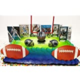 Carolina Panthers Team Themed Football Birthday Cake Topper