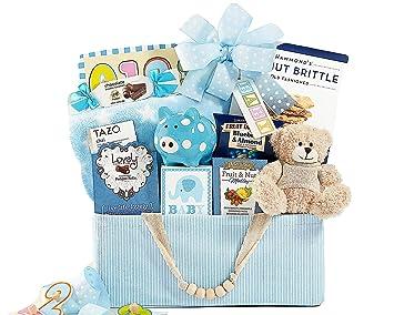 578ad69bba2a Bundle of Joy Blue Newborn Baby Boy Gift Basket  Amazon.com  Grocery ...