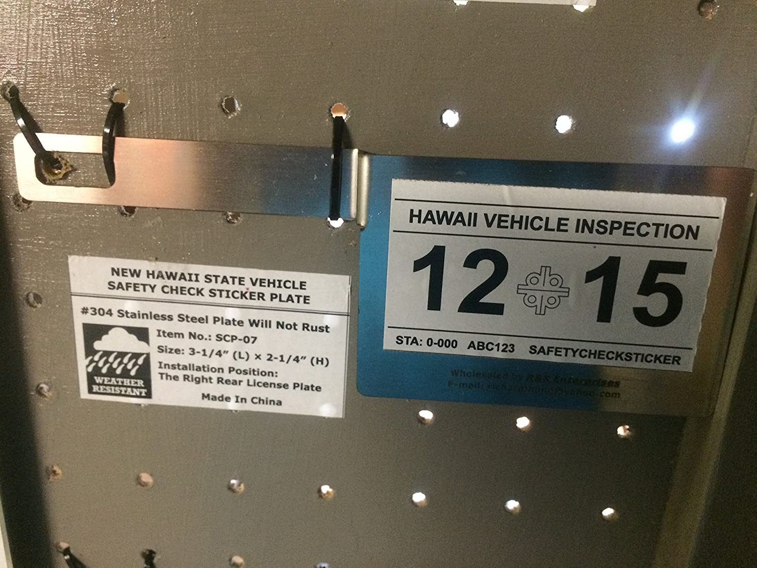 Hawaii Safety Inspection >> Amazon Com Hawaii State Safety Check License Plate Bracket