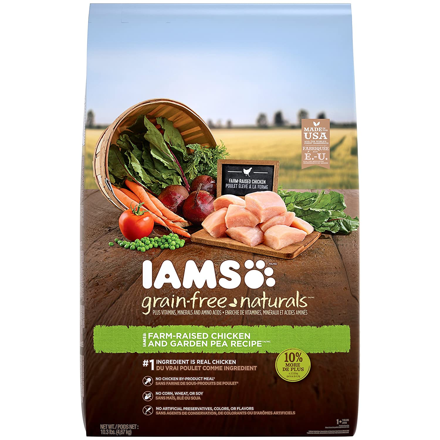 Iams Grain-Free Naturals Adult Chicken And Pea Recipe Dry Dog Food 10.3 Pounds Discontinued By Manufacturer